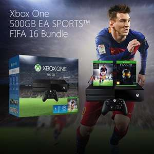 XBOX ONE inc FIFA 16 (+ 3 Legend Loan Pack) + Halo: The Master Chief Collection + 1 Month EA Access £198.71 @ Microsoft Store [Swiss]