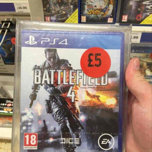 Battlefield 4 PS4 Brand New £5 @ Sainsbury's