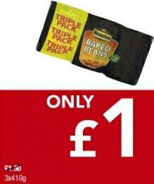 Triple pack Branston Baked Beans £1.00 Premier Stores