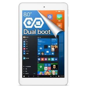 Cube iwork8 Ultimate Tablet WINDOWS 10 + ANDROID 5.1 WHITE 2GB RAM 32GB ROM 8.0 inch IPS Screen Intel Atom x5-Z8300 64bit Quad Core 1.44GHz Bluetooth 4.0 HDMI £56.34 @ Gearbest