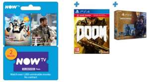 Ps4 1tb Uncharted Edition + Doom + Now Tv pass £309 @ Game