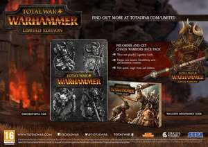 Total War: Warhammer Limited Edition - inc Chaos Warriors Race Pack DLC (PC CD) * PRE ORDER * £37.85 @ Rakuten/Base
