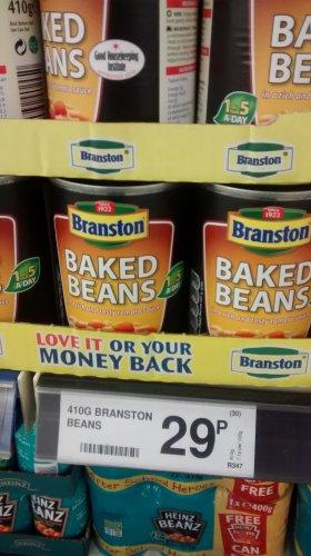 Branston Beans 410g , £0.29 per Can @ Farmfoods