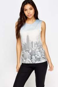 Topshop city print top £5 @ everything 5 pounds ( £3.95 del )