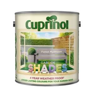 Cuprinol Shades 2.5L - Forest mushroom - Reduced from over £14 to £2 at Homebase