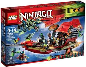 LEGO Ninjango Final Flight of Destiny's Bounty Boxset 30% £69.99 at Ebay/Argos