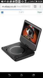 refurbished portable DVD player from Tesco eBay outlet for £25