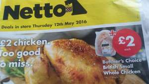 Whole fresh chicken £2 at Netto
