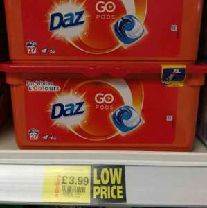 Daz washing 27 pods / capsules reduced to £3.99 at Savers