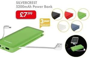 Power Bank 5200mAh £7.99 LIDL (Silvercrest) - 3 Year Warranty - 19th May
