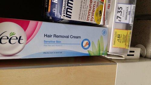 Veet cream sensitive skin Tesco express selling for £1.84