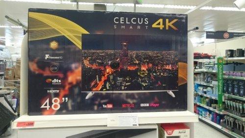 Celcus 4k 48 inch Smart tv £320 instore @ Sainsbury's Newquay