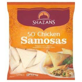 Shazans Chicken, Meat, vegetable Samosas 50 pack £6 @ asda