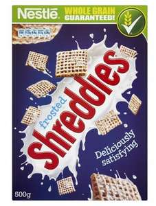 Nestle Frosted Shreddies Cereal 500G Half Price Was £2.49 Now £1.24 @Tesco