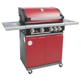 MasterChef 4 Burner Gas BBQ with Side Burner, Red @ tesco £160