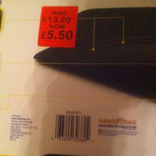 Good year rubber car mats £5.50 @ Asda