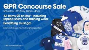 QPR FC sale at the official QPR Concourse