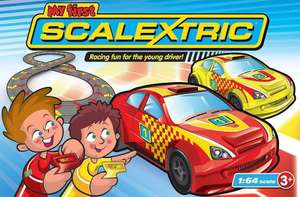 Micro Scalextric 1:64 Scale My First Racing Set was £29.99 now £14.97 Del @ Tesco Direct (also Hot Wheels Star Wars Character Cars 1:64 - Pack of 5 £12.50 Del)