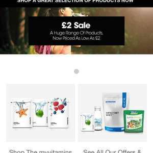 £2 sale on myvitamins and also 3 for 2 working