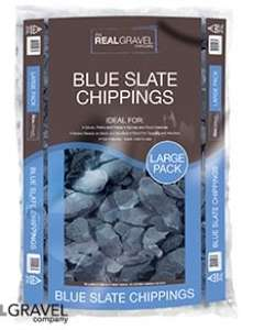 Blue Slate Chippings 20kg bag £2.75 Home Bargains reduced from £5.99 to