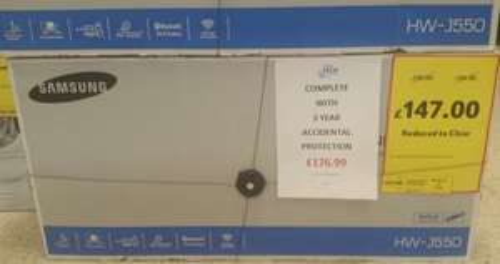 Samsung HW-J550 320W Wireless Soundbar + Wireless Subwoofer £147 (RRP £299.99) Instore @ Tesco