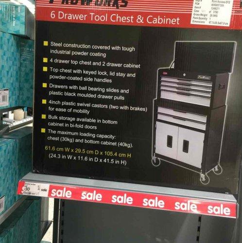 6 drawer tool chest £30 Asda (hessle rd)