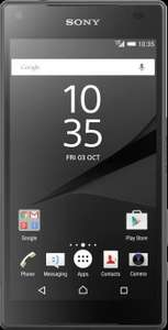 Sony Xperia Z5 Compact on EE, 1GB data, 500 mins, Unlimited Texts, £20.99/month (£503.76) @e2save