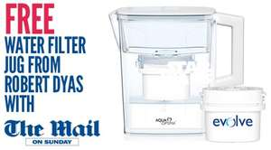 buy The Mail on Sunday and get freebie water jug at robert dyas (£1)