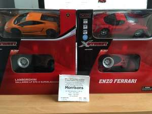 X-Street Prestige Collectible Mini Remote Control Car for £2 @ Morrisons - Choice of 2, Ferrari Enzo and Lamborghini Gallardo Superleggera