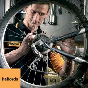 50% off Bike Silver Service! Was £50 Now £25 at Halfords with 02 Priority Moments