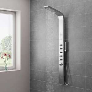 Milan Shower Tower Panel - Stainless Steel (Thermostatic) £199.95 + £24.95 del @ Victorian Plumbing