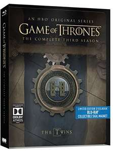 Game of Thrones Season 3 & Season 4 (Limited Edition Steelbook) [Blu-ray] [Dolby Atmos] @ Amazon UK £22.99 each [Pre-Order]