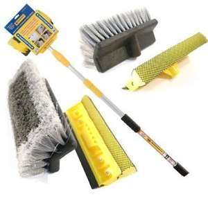 9FT ALUMINIUM TELESCOPIC WATER FED WINDOW CAR VAN WASH BRUSH EXTENDABLE £13.87 delivered @ HBK/Amazon