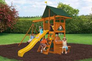 Kids climbing frame with slide and swings for £299 and free delivery from Selwood