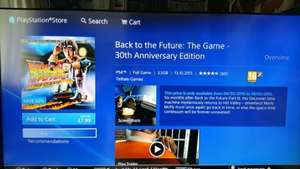 Back to the future 30th anniversary PS4 - £7.99 PSN Store
