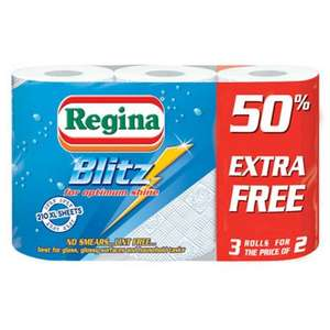 6 Regina Blitz Kitchen Towels for £5 @ QD Stores