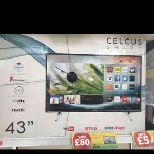 "Celcus 43"" Full HD LED Smart TV with Freeview HD £200 @ sainsburys"