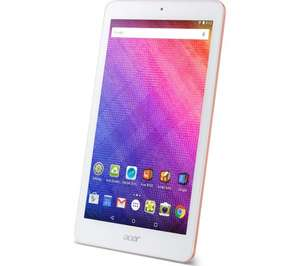 """Acer Iconia One 8"""" Tablet 16GB Octa-core Processor 5.0MP Camera Android Pink - £99.99 @ Currys Ebay"""
