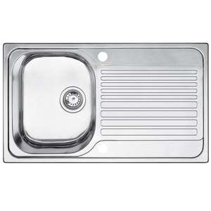Blanco Toga 1 Bowl Stainless Steel Compact Sink & Drainer From B&Q @ £26 (additional delivery charges apply)