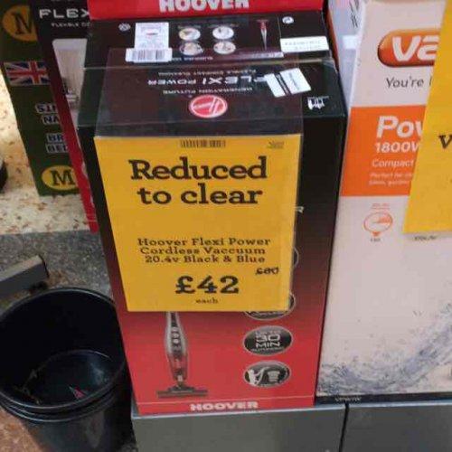 Hoover Flexi Power Cordless Vacuum 20.4v £42 @ Morrisons
