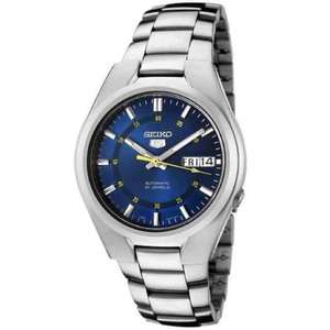 Seiko SNK615K1 - 5 - Men's Automatic analogue watch, Blue Dial, Steel Bracelet, Grey @ Amazon (in stock May 29th)