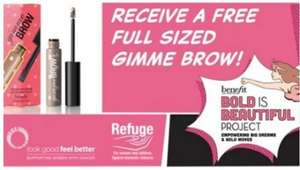 A Full Sized Gimme Brow FREE @ Benefit with every Brow Wax