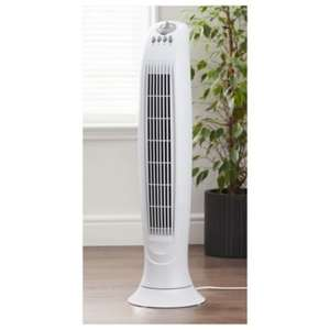 Tesco Tower Fan, 3 Speed - White £20 @ Tesco