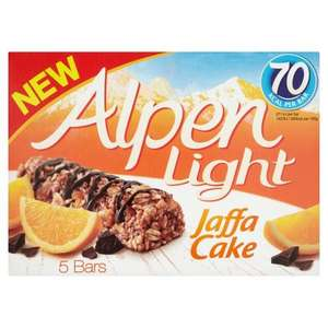 Alpen Light Bars 5 Pack All Flavours Including Jaffa Cake NOW £1 each @ Tesco Instore & Online