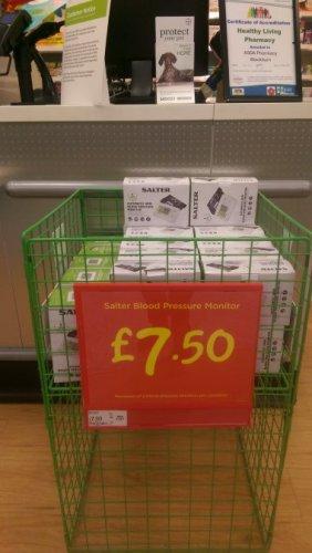 Salter blood pressure monitors for £7.50 at asda