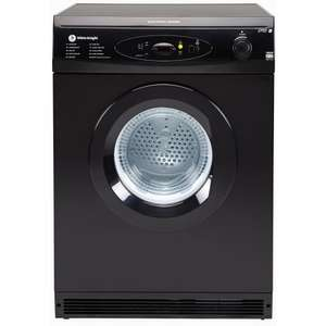 White Knight Tumble Dryer C86AB (6kg/Digital Sensing/Vented/Black) + Free delivery whiteknightrange