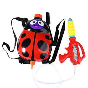 Kids Ladybird / Bee Backpack Pressure Pump Squirt Gun £4.06 Del @ Aliexpress