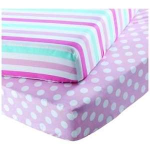 Chad Valley Stripe and Spot Fitted Sheets - Toddler (was £9.99) now £5.99 at Argos