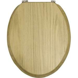 Solid Oak Tongue And Groove Toilet Seat was £39.99 now only £18.99 @ Homebase (Free C&C or £3.95 Del) Plus Triple Nectar Points