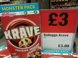 Kellogg's Krave Chocolate Hazelnut 1Kg box  £3 at Co-operative
